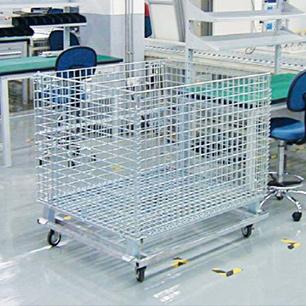 高精密仓储笼折叠式网格箱铁框定制货架超市仓储笼车金属周转箱