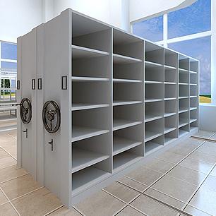 滑动_滑轨式_移动式书架