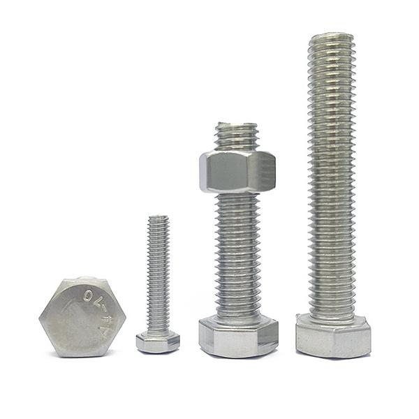 304不锈钢外六角全螺纹工业螺栓