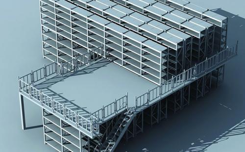 定制阁楼平台货架钢结构仓储二层仓库可拆卸组合式重型高位货架