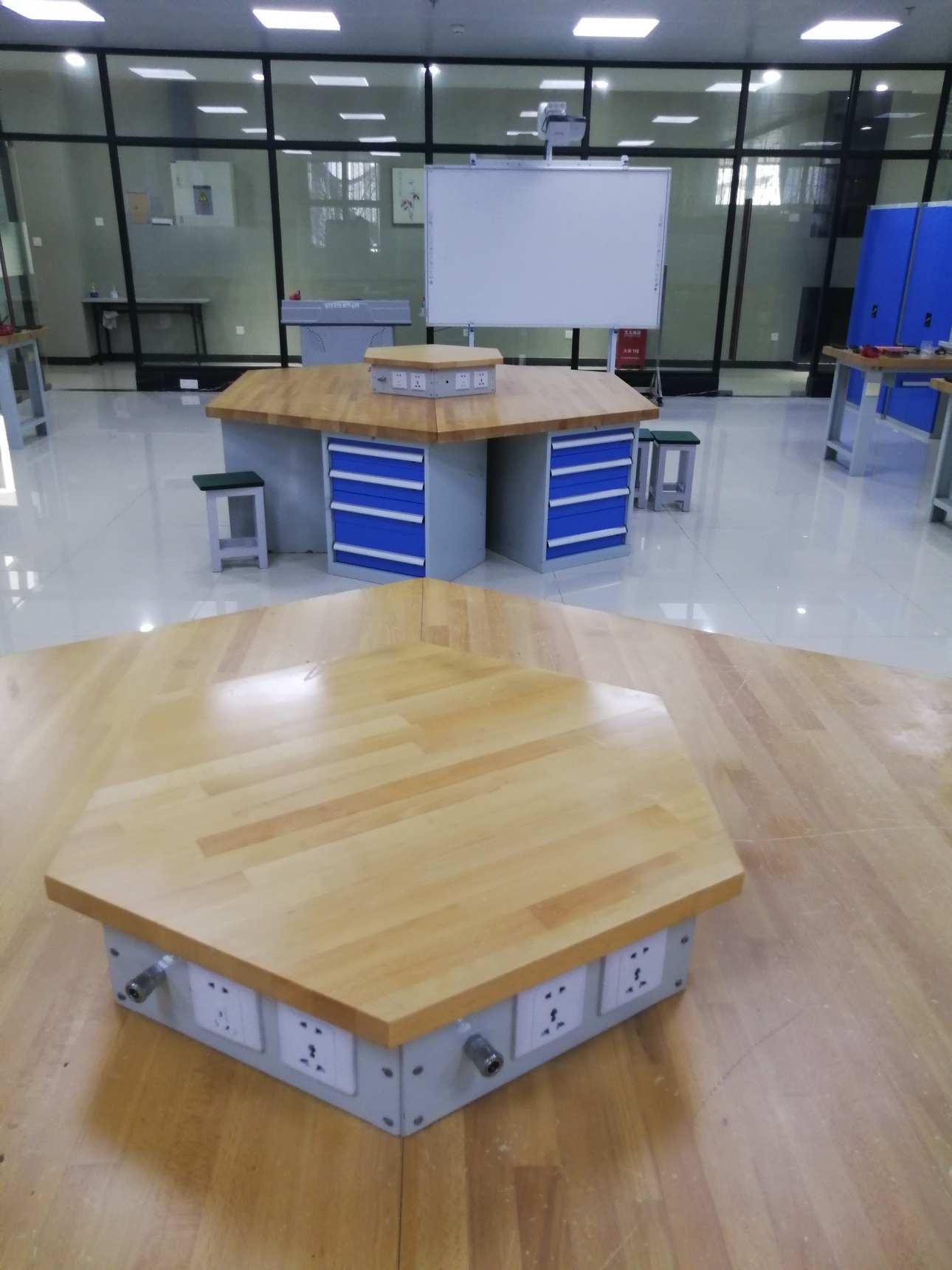 六角工作台,六角实训台,六边形培训台